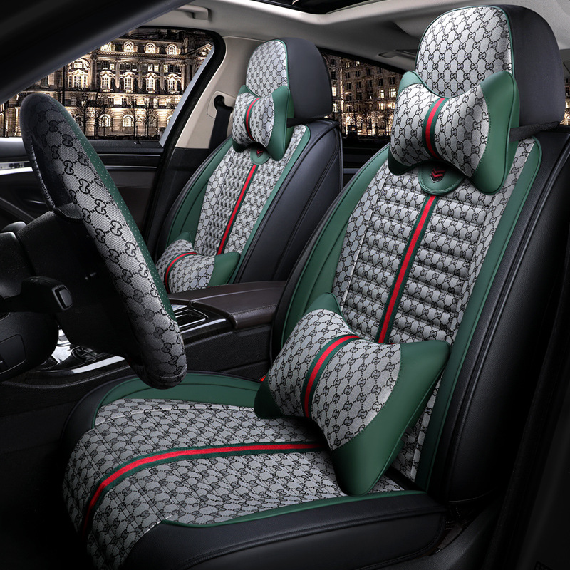 2019-Tiguan L Four-Wheel Drive New Style Fabric All Edges Included Peri Seat Cover Only All Edges Included Seat Cushion Seat Cov image