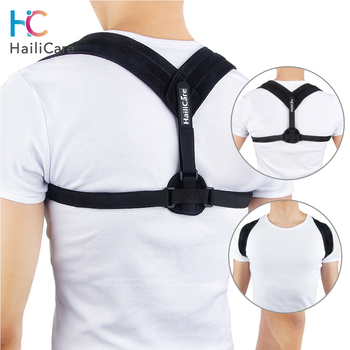 Adjustable Posture Corrector Upper Back Brace Clavicle Support Stop Slouching Hunching Back Trainer Black Health Product Unisex 1