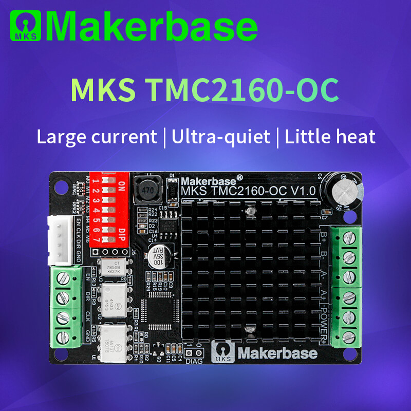 3D Printer MKS TMC2160_OC  High-power Stepper Motor Driver High Torque And Noiseless Fully Compatible TMC5160motion Controller