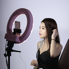 лучшая цена Camera Photo Studio Phone Video 14 inch 35W 180PCS LED Ring Light 5500K Photography Dimmable Ring Lamp With 180CM Tripod