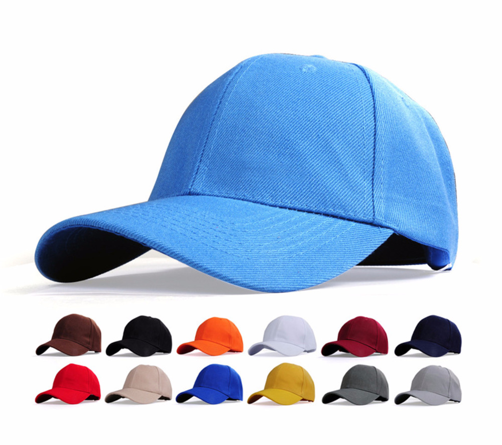 Wholesale New Solid Color Baseball Cap Fashion Men And Women Light Board Hip Hop Baseball Cap Couple's Bent Cap Duck Tongue Cap
