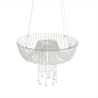 New Hanging Acrylic Clear Crystal Beads Cake Stand For Wedding Event Birthday Party Decortion