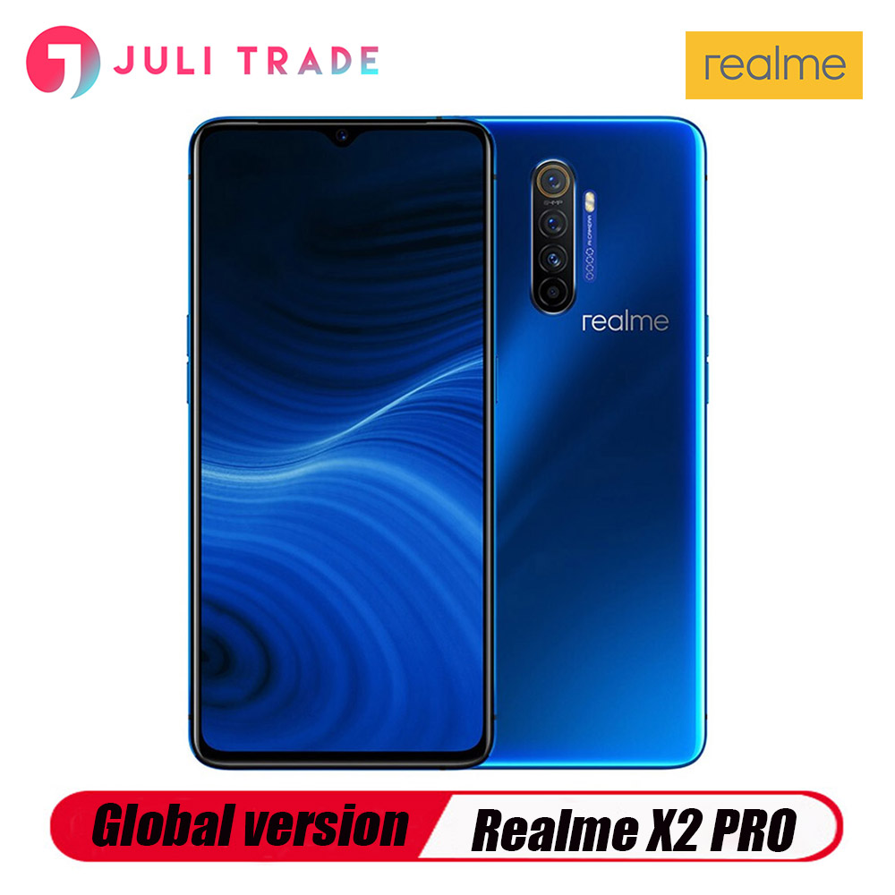 """Global version OPPO realme X2 Pro 6.5"""" NFC Snapdragon 855 Plus 64MP Quad Camera Smartphone Cellphone 50W Super VOOC Fast charger"""