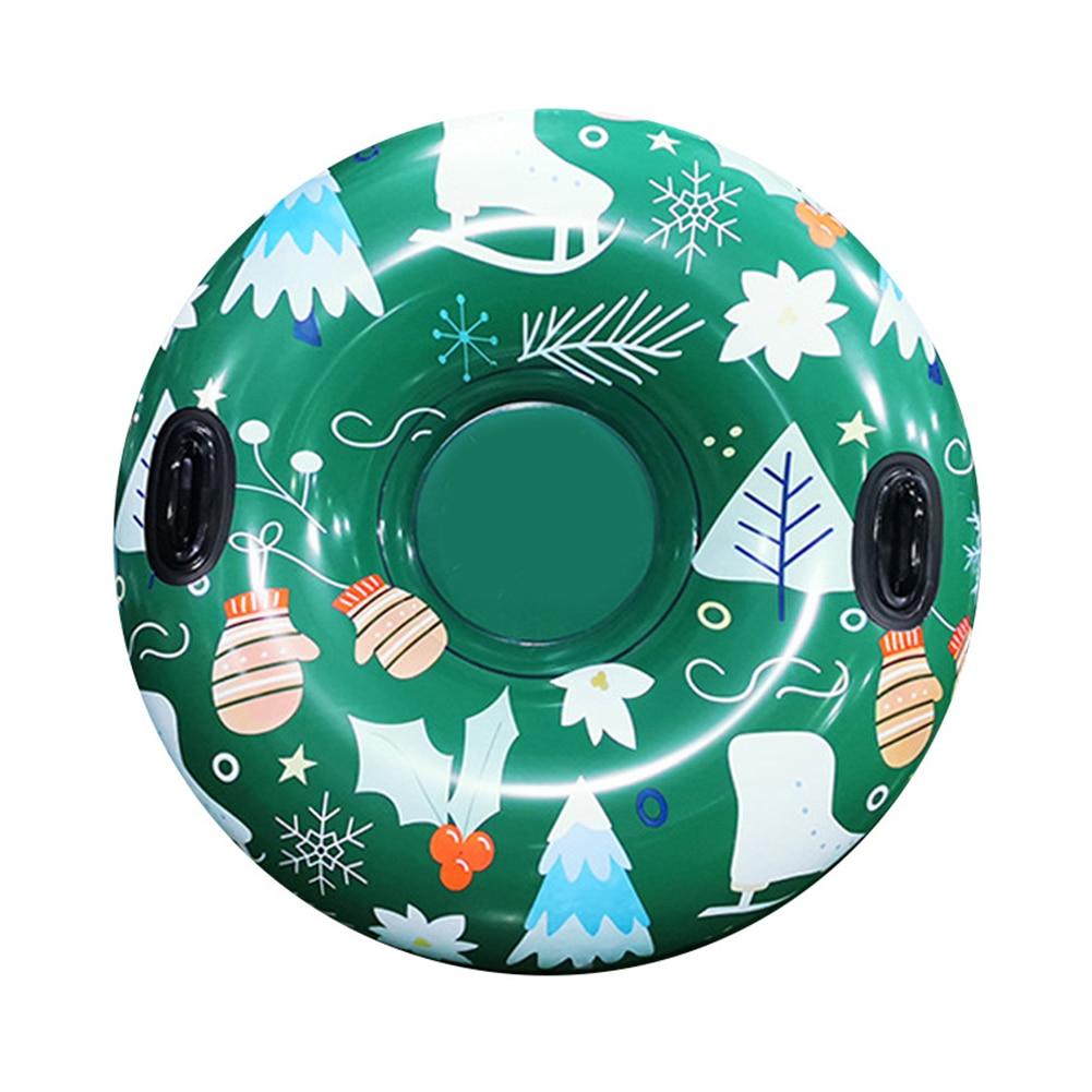 Снежная игрушка зимние надувные лыжи круг с ручкой высокое качество прочные Дети Взрослые снежные трубки лыжные утолщенные плавающие сани