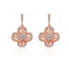 Fashion Tassel Earrings Trend Simple Zircon Flower shape Drop for Women Sexy Summer Holiday Gift