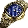 Horloges Mannen Quartz Horloge Staal Waterdichte Retro Graveren Patroon Armband Strap Butterfly Sluiting Mannen Business Horloge Mannelijke Klok