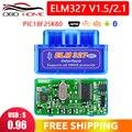 Мини сканер ELM327 V1.5 PIC18F25K80 OBD2 ELM 327 1,5 OBDII Bluetooth диагностический инструмент ELM 327 V1.5 25K80 чип