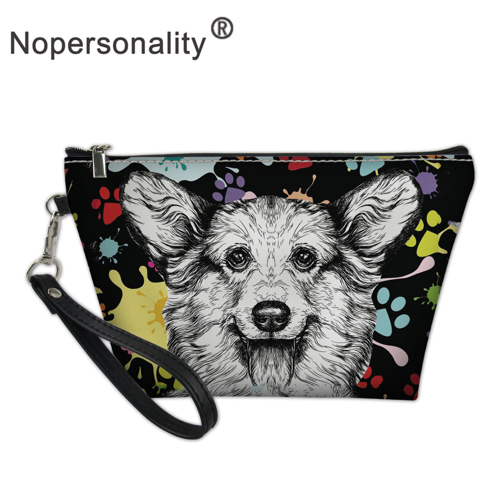 Nopersonality Art Dog Printed Women Travel Make Up Bag Funny Femme Ladies Organizer Cosmetic Bag Travel Toiletry Wash Bags