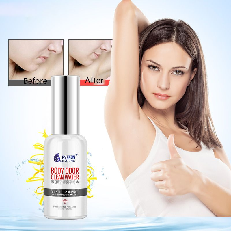 50ml Body Odor Antiperspirant Spray Unisex Armpit Sweat Cleaning Lotion Deodorant Effective  Ingredients*