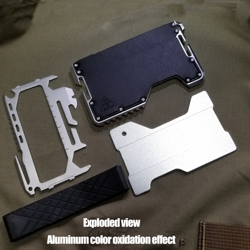 Metal Clip EDC Equipment Wallet Tactical Multi-function Wallet Card Package Army Fans Outdoor Camping Survival Weapon Tool