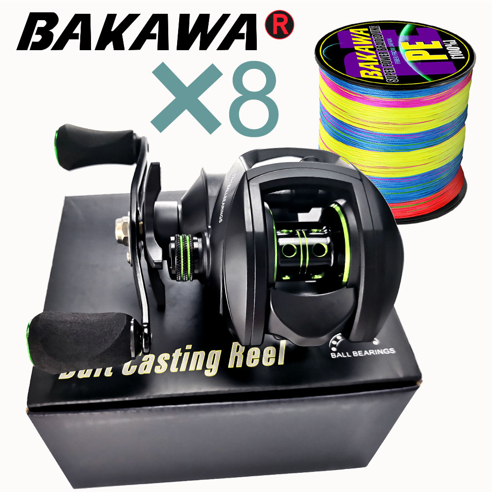 New  Baitcasting Reel High Speed 8:1:1 Gear Ratio 17+1BB Fresh Saltwater Magnetic Brake System Ultralight Fishing ReeL 2000 Seri
