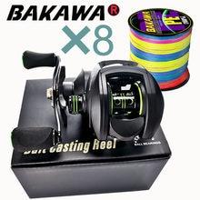 Nouveau Baitcasting moulinet haute vitesse 8:1:1 rapport de vitesse 17 + 1BB eau douce système de freinage magnétique ultra-léger moulinet de pêche 2000 Seri