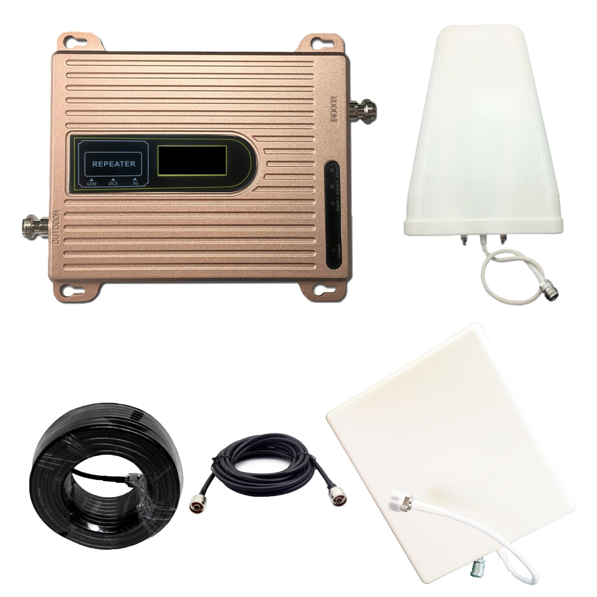 900 1800 2100 MHZ 2G 3G 4G Signal Booster GSM Repeater Amplifier 4G Mobile Phone Tir Band Cell Phone Booster WCDMA GCS