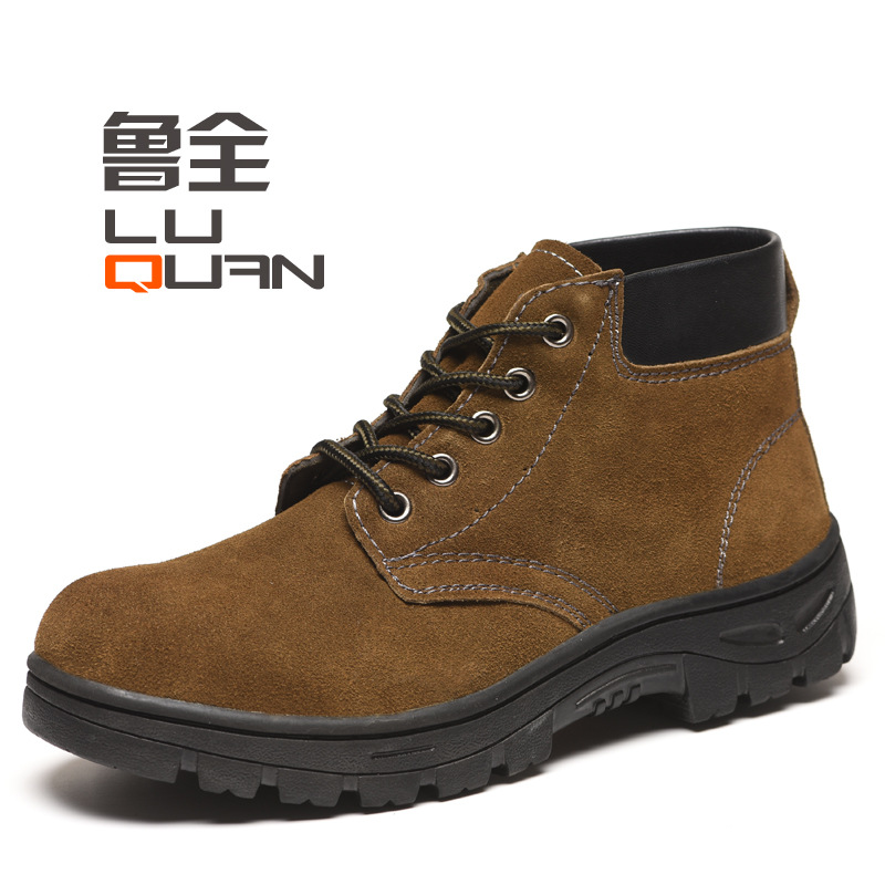 Wholesale Mid-top Anti-smashing And Anti-penetration Safety Shoes Safe Protective Shoes Wear-Resistant Acid And Alkali Resistant