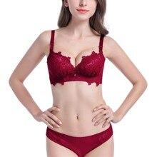 Sexy Lace Briefs Lingerie Set Push Up Women Bra Female Floral Bras Underwear NS