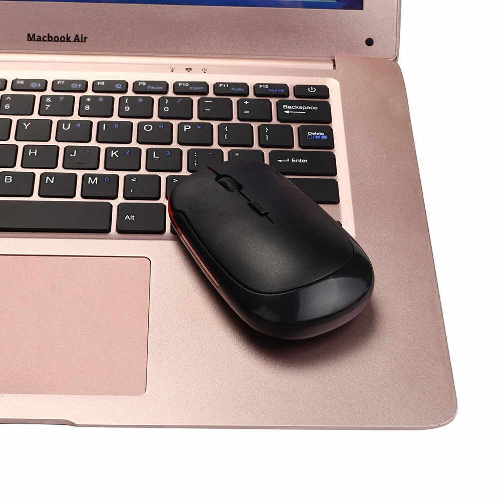 Ratón óptico inalámbrico delgado de 2,4 GHz ratón inalámbrico receptor USB 2,0 para ordenador portátil