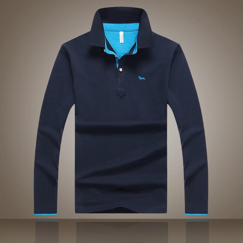 2019 New Men Embroidery Harmont Long-sleeve Polo Shirt Plus 6 Colors Casual Turn-down Collar Polo Good Quality Polo Shirt Blaine