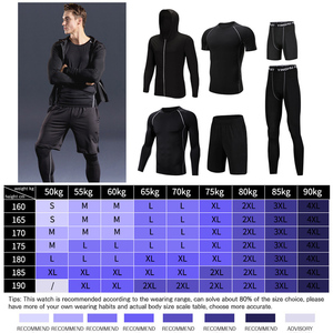 Image 5 - WorthWhile 6 Pcs/Set Sports Tracksuit Men Compression Suit Gym Fitness Clothes Running Set Jogging Training Workout Sport Wear