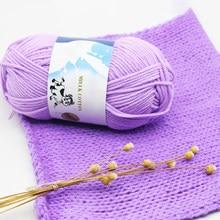 50 grams/ensemble laine à tricoter fil de coton de lait anti-boulochage Fine qualité fil à tricoter à la main pour Cardigan écharpe chapeau pull poupée