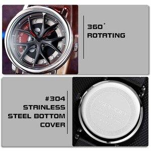 Image 3 - Car Wheel Watch Men Personality 360 Degree Rotating Watches Waterproof Quartz Wristwatch SANDA Top Brand Luxury tourbillon reloj