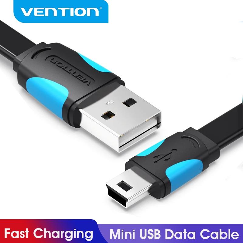 Vention мини USB кабель для быстрой зарядки USB в мини USB кабель для передачи данных для цифровой камеры HDD MP3 MP4 плеер DVR GPS мини USB 2,0 кабель