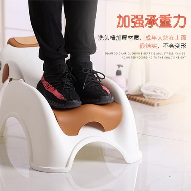 2in1 Foldable 어린이 샴푸 의자 아기 의자 만화 코끼리 샴푸 침대 조절 쿠션 신생아 아기 제품 욕조