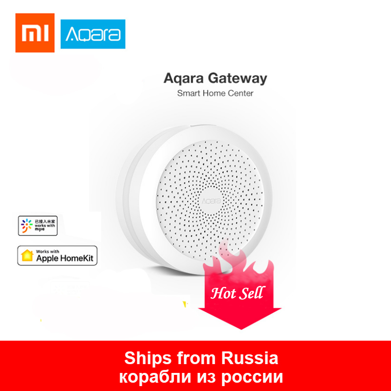 2019Xiaomi Gateway2 Aqara Hub  With RGB Led Night Light Smart Work With Mihone Apple  Aqara APP Hub Remote Control