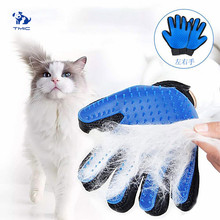 Multicolor Pet Cleaning Massage Grooming Glove Cat Grooming Dog Hair Deshedding Brush Comb Pet Comb Cats Hair Brush Pet Glove(China)