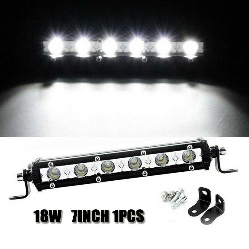 1Pcs 7'' 18W LED Work Light Bar Spotlight Flood Lamp Driving Fog Waterproof Offroad
