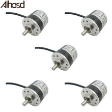 Aihasd 5PCS/LOT AB Two phase 5 24V 400 Pulses Incremental Optical Rotary Encoder