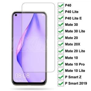 9D Tempered Glass For Huawei P40 Lite E P Smart Z 2019 Screen Protector Protective Glass For Huawei Mate 30 20 10 Lite 20X Film