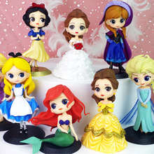 New Cartoon Princess Birthday Cake Decoration White Snow Bell Ice Love Shaana Christmas Party Gift