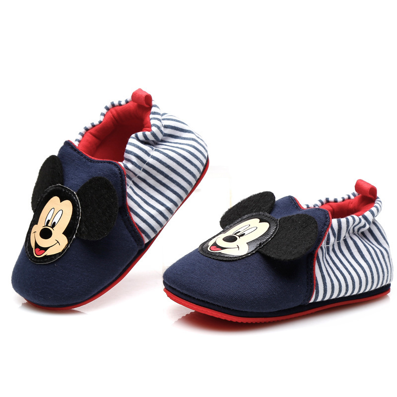 Disney Baby Shoes  Mickey Non-slip Toddler Shoes  Soft Shoes  Grils Home Shoes Boys