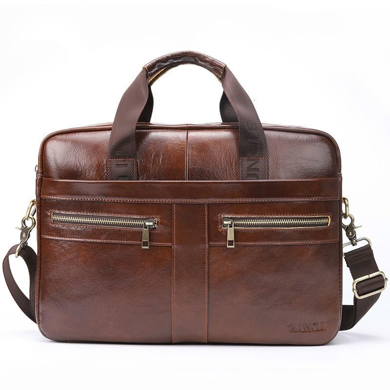 Genuine Leather Man Document Cowhide Single Shoulder Messenger Bag Men Portable Briefcase Designer Luxury Handbags Free Shipping