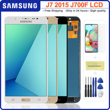 Pantalla LCD de calidad AAA para móvil, montaje de digitalizador con pantalla táctil de 5,5 pulgadas para Samsung Galaxy J7 2015 J700 J700F J700M J700H
