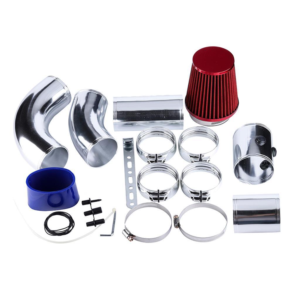 Adeeing Auto 76mm/3 pouces en Aluminium universel voiture filtre d'admission d'air froid système tuyau tuyau Tube Kit pièces d'admission d'air accessoires