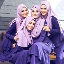 Капот вуаль мусульманский Платок шифоновый шарф хиджаб femme