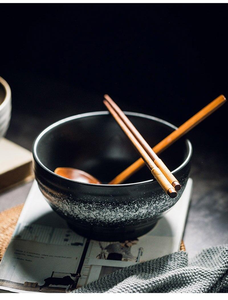 cerâmica de pé alto tigela de macarrão