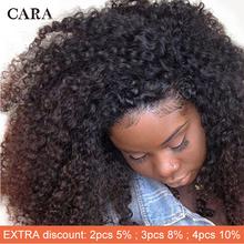 Mongolian Kinky Curly Clip Ins Human Hair Natural Color 3B 3C Clip In Human Hair Extensions 7 Pcs 120 Grams Set CARA Remy Hair tanie tanio CN(Origin) 7pcs set All Colors Pure Color Mongolian Hair