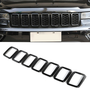 Front Grille Grill Insert Ring Cover Trim Fit For Jeep Grand Cherokee 2017 2018 2019