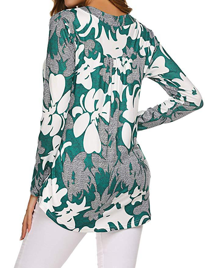 H9a7643baa1ff47c582f5affc1dbf8604o - Large size Blouse Women Floral Print Long Shirts elegant Long Sleeve Button Autumn Tunic Tops Plus Size Female Clothing