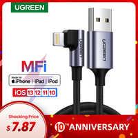 UGREEN MFi USB Blitz Kabel für iPhone 11 Pro X Xs Max Schnelle Lade Datenkabel für iPhone 8 7 6 6S Handy Ladegerät Kabel