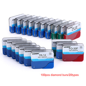 Image 2 - 100pcs/20Boxes Dental Diamond Burs Drill Dental Burs Dia burs for High Speed Handpiecess Medium FG 1.6M Dentist
