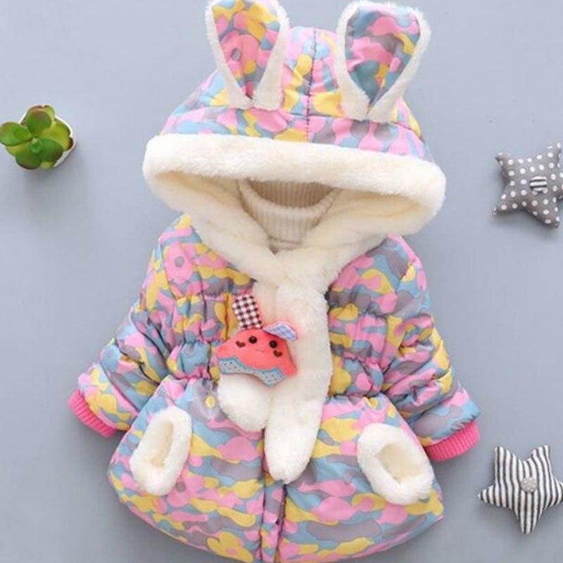 Girls Coat Winter Girls Fashion Plaid Jacket Thickening Plus Velvet Velvet Hooded Jacket 0-2 Years Old Girls  Baby Boy Coat