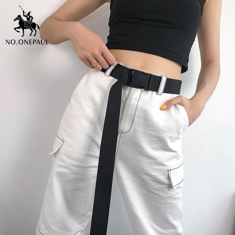 NO. ONEPAUL для женщин, можно регулировать тренд, удобная однотонная ткань с фирменной роскошной пряжкой, повседневный уличный тактический ремень