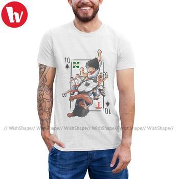 Captain Tsubasa T Shirt Naipe T-Shirt Short-Sleeve Printed Tee Mens Fashion Fun Cotton Big Tshirt - discount item  42% OFF Tops & Tees