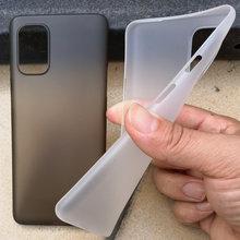 Ultrafinos pp 0.4mm fosco caso para oneplus 8t magro super fino ultra fino plástico capa protetora para 1 + 8t