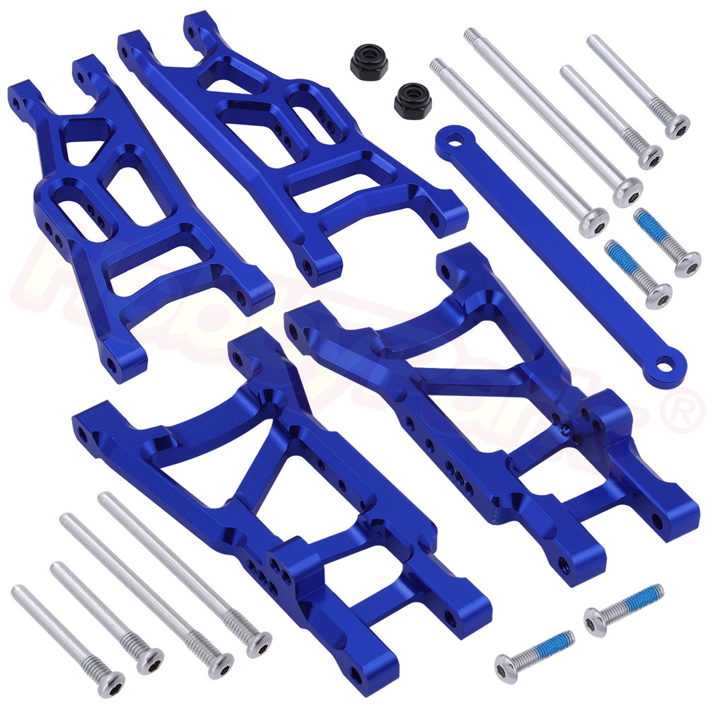 Aluminum Front & Rear Suspension Arms with Tie Bar for Traxxas Slash 2WD 1/10 Short Course Car 2555 3631 Upgrade Parts(China)