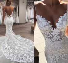 Женское свадебное платье с юбкой годе сексуальное на тонких
