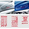 Автомобильные фары для бровей отделка Стикеры бровь фары наклейка для Honda Mugen Civic XR-V UR-V Dohc Typer SI RR город Insight Fit Vtec и т. д